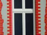 Teilverputzes Fenster